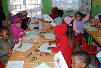 Pre-school/Nursery School/Creche/Pre-Primary School class, in Lambton, Germiston.